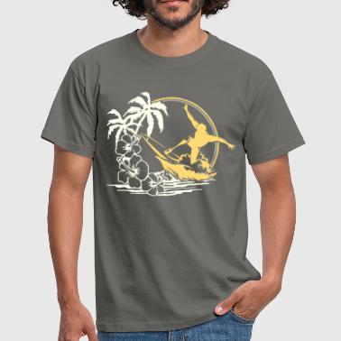 SURFER SURF BOARD WAVES BEACH GIFT SPORT - T-shirt herr