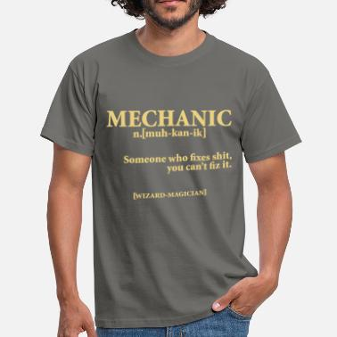 Funny Mechanic MECHANIC NOUN - Men's T-Shirt