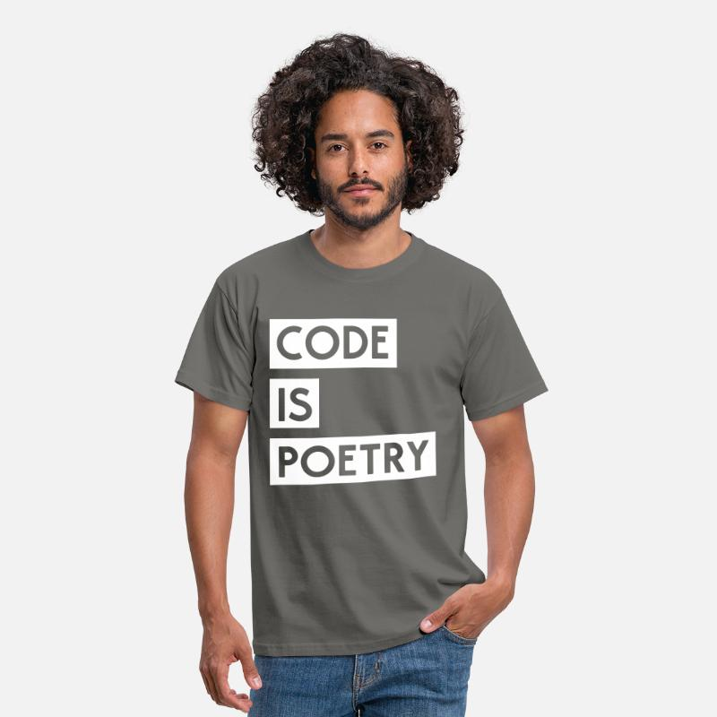 Code T-Shirts - Code is Poetry - Men's T-Shirt graphite grey