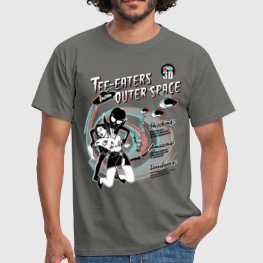 3d Horror Tea Eaters from Outer Space (3D) - Men's T-Shirt