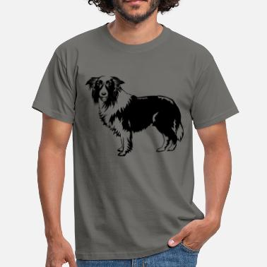 Stor Dog Border Collie - T-skjorte for menn