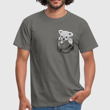 Baby koala in pocket - Männer T-Shirt