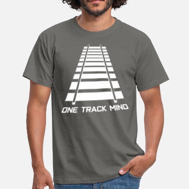 Railroad Rail tracks track model railway - Men's T-Shirt