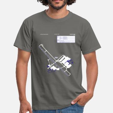 Airport Birmingham Airport Layout Chart Art T-Shirt BHX - Men's T-Shirt