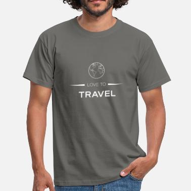Nomade LOVE TO TRAVEL - Männer T-Shirt