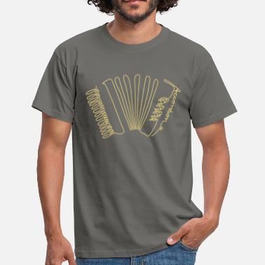 Akkordeon one line accordion - Männer T-Shirt