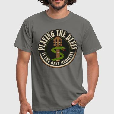 Playing the Blues - Männer T-Shirt