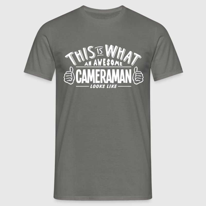 awesome cameraman looks like pro design - Men's T-Shirt