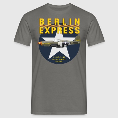 P-51B Berlin Express - T-shirt Homme