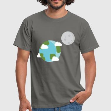 Earth Moon Planet World - Miesten t-paita