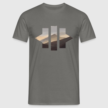 Geometric Mountains - Men's T-Shirt