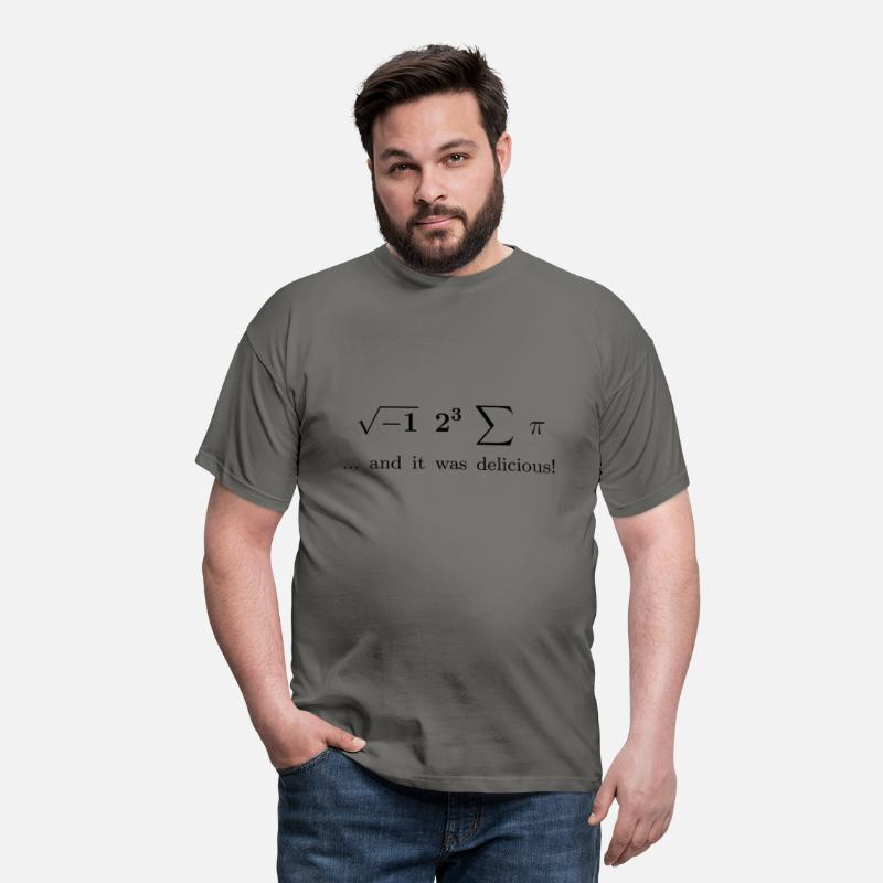Latex T-Shirts - I ate some pie ... and it was delicious! - Men's T-Shirt graphite grey