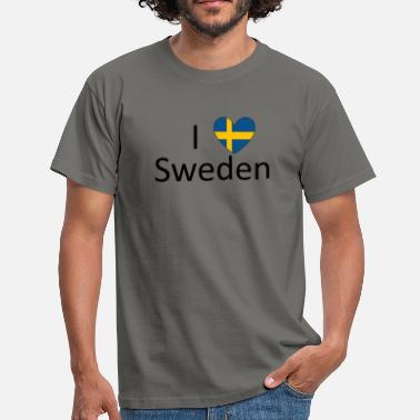 Love Sweden Ich love Sweden - Männer T-Shirt