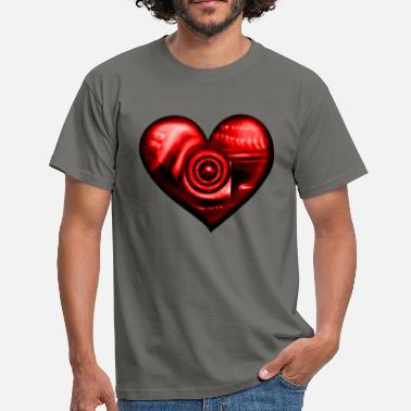 Airbrush Heart biomechanics red - Men's T-Shirt