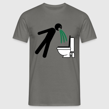 toilet toilet puke vomit break uebelkei - Men's T-Shirt