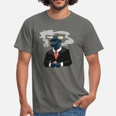 Bull Playing Poker - Herre-T-shirt