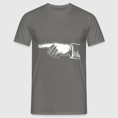 Fingerpointer left for black shirts (Vektor) - Männer T-Shirt