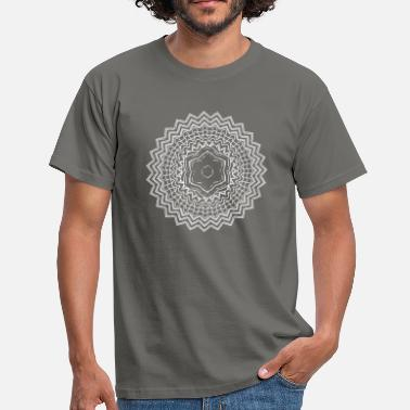 Asia mandala 15 white - Men's T-Shirt