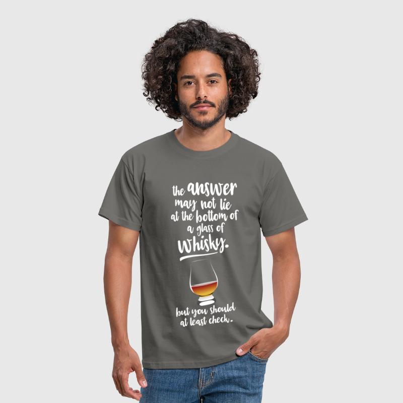 Glass of whisky - Mannen T-shirt