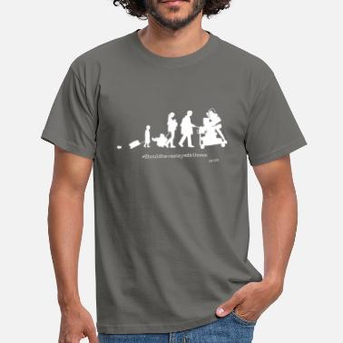 Quirky Family Holiday Grey T - Men's T-Shirt