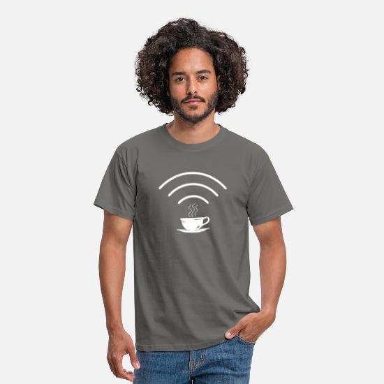 Love T-Shirts - Wifi Coffee Signal - Men's T-Shirt graphite grey