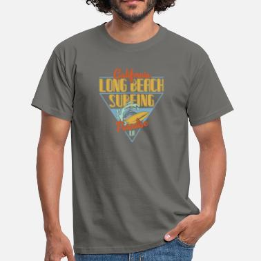 Long Beach Long Beach Surfing - Herre-T-shirt