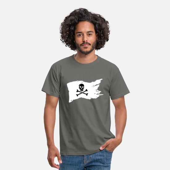 Piratenflagge T-Shirts - Piratenflagge - Männer T-Shirt Graphite