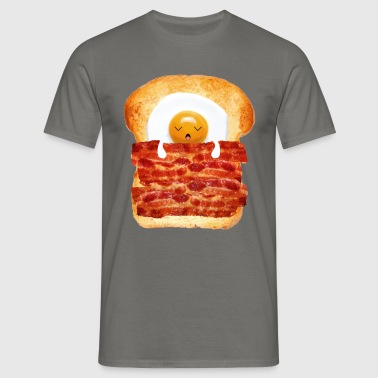 Oeuf, bacon et des toasts - T-shirt Homme