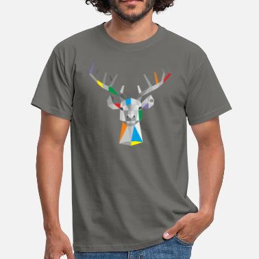Stags Head Stag 4 - Men's T-Shirt