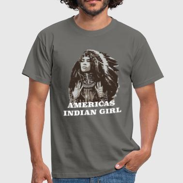 Americas Indian girl - Indianer shirt - Männer T-Shirt