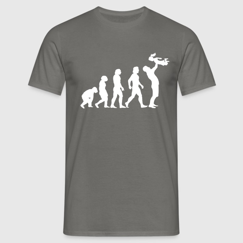 Evolution Of Dad Daughter - Men's T-Shirt