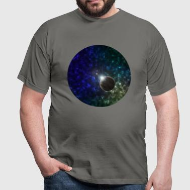 Space and Planet Scene - Men's T-Shirt