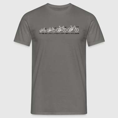 The Evolution of Bicycles - Männer T-Shirt