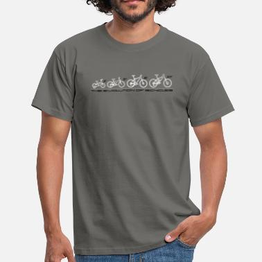 Bicyclette The Evolution of Bicycles - T-shirt Homme