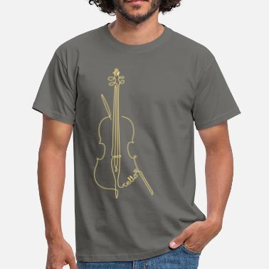 Cello one line cello - Männer T-Shirt