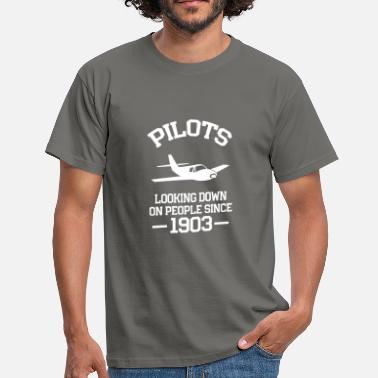 1903 Pilot Looks At People Since 1903 Gift - Men's T-Shirt