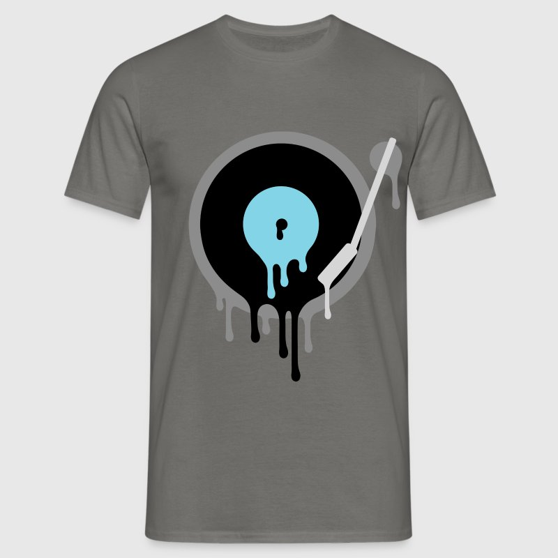 Melting Vinyl DJ - Men's T-Shirt