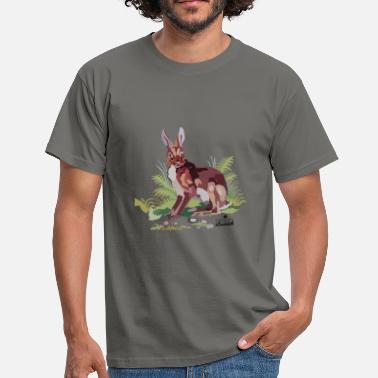 Polygon Illustration Hase polygone - Männer T-Shirt