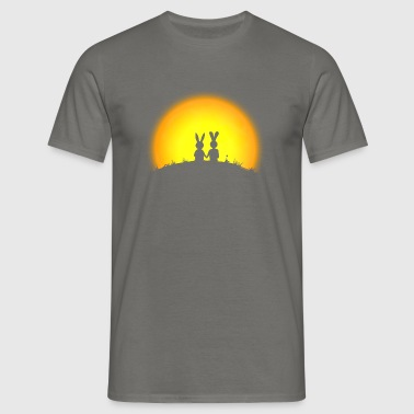 bunny bunnies hare rabbit date sunset - Men's T-Shirt