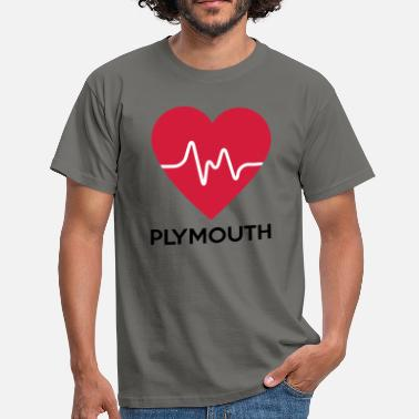 Plymouth hjerte Plymouth - Herre-T-shirt