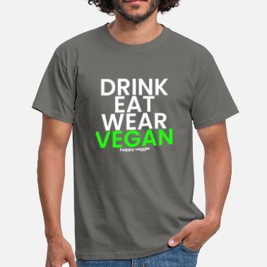 Råkost Drink Eat Wear VEGAN - veggie veggie shirt - Herre-T-shirt