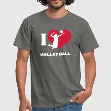 I Love Volleyball T Shirt - Männer T-Shirt