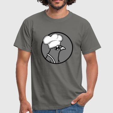 logo circle around barbecue eat hunger sausage cook sc - Men's T-Shirt