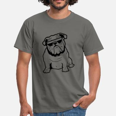 Bulldog With Sunglasses Dog English bulldog sunglasses - Men's T-Shirt