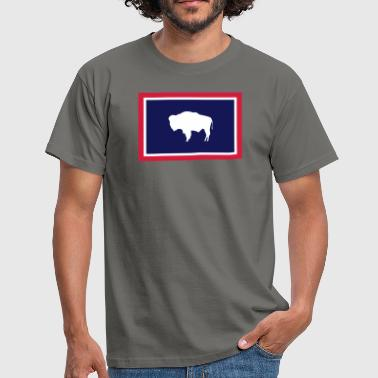 Wyoming WYOMING FLAG - T-shirt Homme