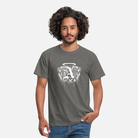 Angel T-Shirts - Guardian angel with angel wings - Men's T-Shirt graphite grey
