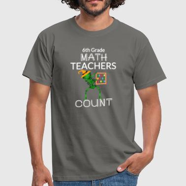 Halloween 6th GRADE MATH TEACHERS DABBING Design - Men's T-Shirt