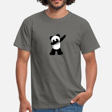 Boys Cute Panda Dabbing Dab for kids - Men's T-Shirt