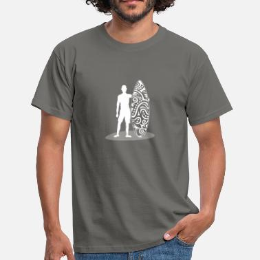 Polynesien Surfer Silhouette - Polynésien Tatto - T-shirt Homme