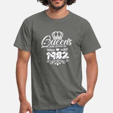 Topmodel Topmodel Queens Are Born in 1982 - Mannen T-shirt